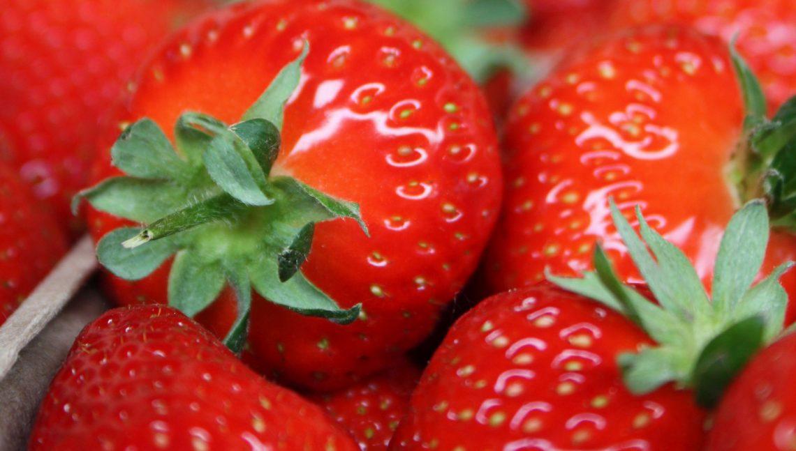 Nahaufnahme Erdbeeren